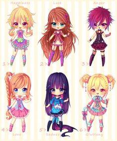 Chibi, manga and kawaii. Cute Anime Chibi, Kawaii Chibi, Kawaii Cute, Kawaii Girl, Chibi Characters, Cute Characters, Hyanna Natsu, Manga Anime, Anime Art