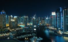 Awesome City of Dubai At Night Desktop Backgrounds HD Wallpaper Dubai City, Dubai Uae, Building Images Hd, Countries Around The World, Around The Worlds, Dubai Buildings, Skyscrapers, Backgrounds Hd, Macbook Pro Wallpaper