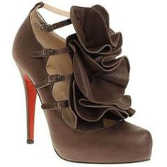 Christian Louboutin Dillian 120mm Mary Jane Escarpins Brown