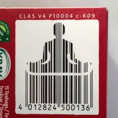 Creative use of the EAN bar code.