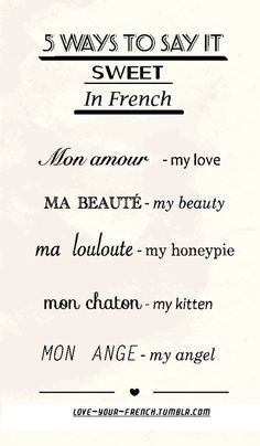 "French expressions with the word ""heart"" French Expressions, How To Speak French, Learn French, The Words, Words To Pages, Sweet In French, My Love In French, Pretty French Words, Romantic French Phrases"