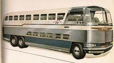 Greyhound Bus design by Raymond Loewy, 1979 Raymond Loewy, Classic Gmc, Classic Cars, Automobile, Engin, Bus Coach, Bus Stop, Public Transport, Road Transport