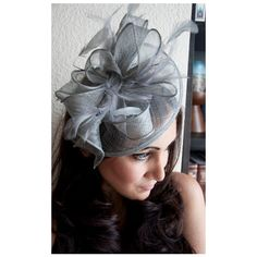 Gray Fascinator Penny Mesh Hat Fascinator With Mesh Ribbons and Gray... (65 CAD) ❤ liked on Polyvore featuring accessories, hats, black, hair accessories, headbands & turbans, grey shawl, colorful shawl, feather shawl, leopard print shawl and leopard shawl