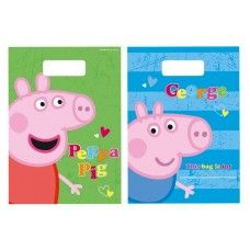 Party Themes :: Girls Party Themes :: Peppa Pig :: 8 x Peppa Pig Party Lolly Favor Loot Bags Papa Pig, Peppa Pig Party Supplies, Birthday Party Themes, Pig Birthday, Birthday Ideas, Party Packs, Pigs, Loot Bags, Pig Ideas