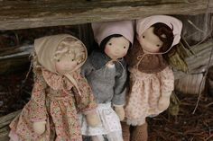 Kasumi, Sisley and Oona, three natural fiber art dolls ready to play. | Fig & Me | Bloglovin'
