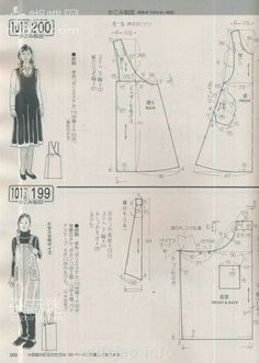 Japanese book and magazine handicrafts - Lady Boutique № 2 2013 Sewing Blouses, Sewing Aprons, Apron Pattern Free, Pinafore Pattern, Japanese Sewing Patterns, Dress Making Patterns, Japanese Books, Aprons Vintage, Book And Magazine