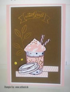 stampin insolors 2017 - 2019 Combo powder pink and soft suede wildelder und puderrosa coffee Cup kaffe becher