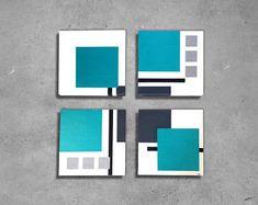 Small Canvas Art, Diy Canvas Art, Diy Wall Art, Tape Painting, Diy Painting, Abstract Geometric Art, Geometric Poster, Masking Tape Art, Painters Tape Art