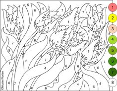 nicoles free coloring pages color by number flowers spring coloring page