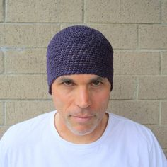 I hand crocheted this 8 long beanie with pure plum hemp yarn- this will fit (or stretch to fit) most average size heads (20-23 in circumference)...we are happy to make you a custom size (at no extra cost!). 8= 20.32 centimeters long 20-23= 50.80- 58.42 centimeters in circumference  hemp yarn will keep you warm in the winter and cool in the summer...it is one of the most durable fibers available and while it grows softer with each wash, it will not lose its strength- this hat was made with…