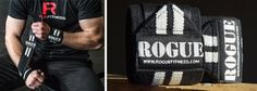 """Rogue Wrist Wraps - White Series    Wouldn't do overhead work without them. The 18"""" suits my wrists perfect."""
