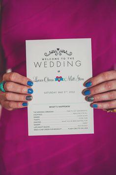 graphic design ideas for wedding programs // photo by AngelaReneePhoto.com