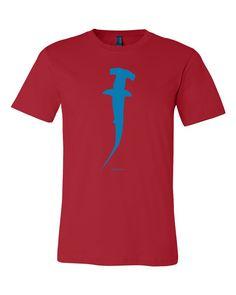blue hammerhead shark t-shirt Hammerhead Shark, Shark T Shirt, Time Shop, Cool T Shirts, Prints, How To Wear, Blue, Clothes, Shopping