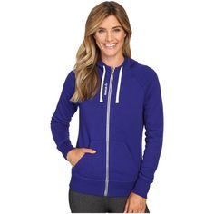 Reebok El Full Zip Fleece (Pigment Purple) Women's Fleece ($43) ❤ liked on Polyvore featuring tops, hoodies, purple, reebok hoodie, full zip hoodies, zip front hooded sweatshirt, full-zip hooded sweatshirt and purple hooded sweatshirt
