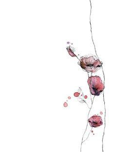 Piet Boon Styling by Karin Meyn Rose Illustration, Botanical Illustration, Watercolor Flowers, Watercolor Paintings, Watercolor Tattoo, Bear Art, Botanical Art, Ink Art, Flower Tattoos