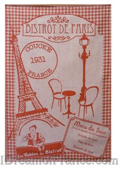 Coucke Bistrot de Paris French Dish Towel - Big Design