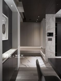 森境+王俊宏 室內裝修設計工程有限公司 Shoe Cabinet Entryway, Shoe Cabinet Design, Foyer Design, Hall Design, House Design, Best Interior Design, Luxury Interior, Interior Styling, Interior Design Living Room