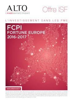 FCPI Fortune Europe 2016-2017 commercialisé par Alto Invest