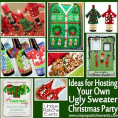 Ideas for Hosting Your Own Ugly Sweater Christmas Party  See all the details here: http://uniquepasticheevents.com/2013/12/11/ideas-for-host...