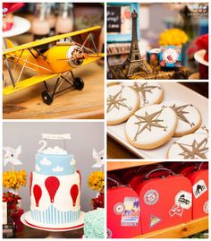 Hot Air Balloon + Around the World themed birthday party with Lots of Super Fabulous Ideas via Kara's Party Ideas! Full of decorating ideas,...