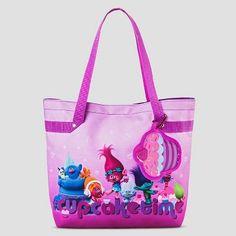 Girls' Dream Works Troll Tote Bag - Pink One Size
