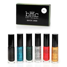 BMC 6pc Long Striper Dotting Brush DIY Quick Liner Nail Art Glitter and Shimmer Polishes * Continue to the product at the image link.
