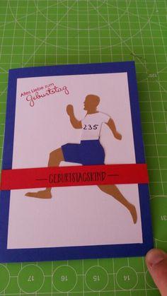 Geburtstagskarte für Marathonläufer