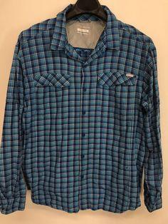 e1ffbec502b Mens 2xl xxl columbia omni-shade outdoor shirt fishing vented blue long- sleeve