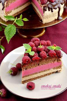 smakuj smaki - przepisy i fotografia kulinarna: Tort czekoladowo-malinowy Tiramisu, Cheesecake, Sweets, Cookies, Ethnic Recipes, Food, Crack Crackers, Gummi Candy, Cheesecakes