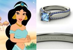 What?! Disney princess themed engagement rings?! Too cute... Ring: Gemvara Disney Ring // Feature: TheKnot.com