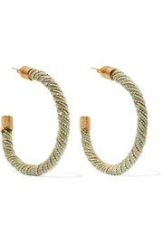 Incontro gold-tone cord hoop earrings