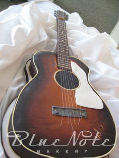 guitar groom's cake | Blue Note Bakery - Austin, Texas