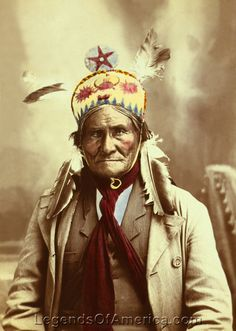 Gallery: Apache Geronimo, 1903  Geronimo, by J.W. Collins, 1903. Vintage image restored by Kathy Weiser-Alexander.
