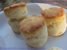 Gluten free buttermilk biscuits! You would never know they were gluten free!