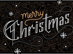 Merry Christmas by Karli Ingersoll #Design Popular #Dribbble #shots