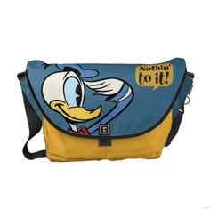 Donald Duck Messenger Bag. Price:$111.00 #Disney stuff on www.pinterest.com/erikakaisersot