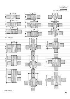 Types And Sizes Of Table Arrangements Models Pinterest - Standard cafeteria table dimensions