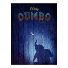 Dumbo | Dumbo Shadow With Feather Theatrical Art Poster Tim Burton, Dumbo Live Action, Dumbo Movie, Movie Tv, The Lion King, Next Year, Baby Elefant, Kunst Poster, Circus Poster