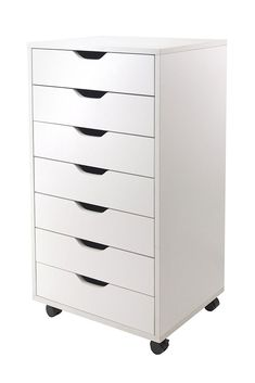 Winsome Halifax Cabinet for Closet/Office, 7 Drawers, White 7 drawers cabinet use as a dresser or just storage cabinet Removable casters for stationary or mobility Assembly required Closet Drawers, Storage Drawers, Storage Shelves, Storage Chest, Closet Dresser, Sliding Drawers, Cabinet Closet, Cabinet Storage, Office Storage