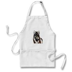 wolf Painting.png Aprons  £16.65 THESE DESIGNS COME IN MANY DIFFERENT STYLES PRODUCTS & COLORS OF APPAREL ALSO
