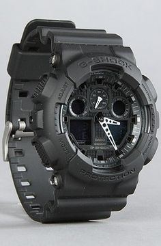 Casio G-Shock GA-100-1A1 Big Combi Military Series Watch ~ Gadget Watch 101 http://gadgetwatch101.blogspot.com/2013/02/best-watches-6-g-shock-ga-100-1a1-big_8.html