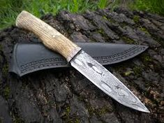 motorcycle chain damascus by hellize on DeviantArt Custom Knives, Damascus Steel, Blade, Camping Knife, Motorcycle, Zombie Apocalypse, Knifes, Chain, Swords