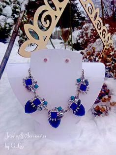 Blue Statement Necklace.