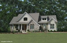 Front Exterior House Plan 1500 square feet