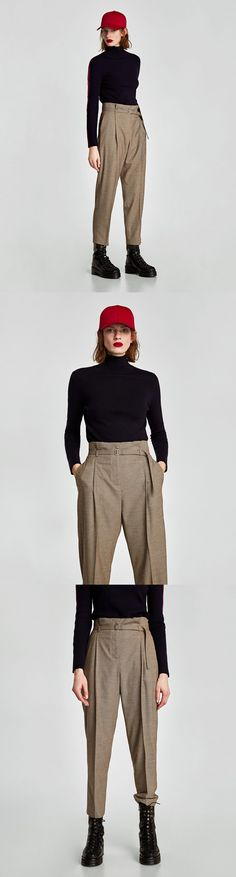 High Waist Checked Trousers from zara - 49.90 USD 5f045626bf7