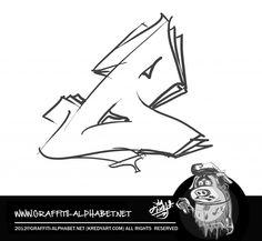 Graffiti letter Alphabet