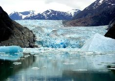 Amazing places & spaces  Sawyer Glacier, Alaska If anybody ever thought staring at ice was boring, they need just look at this video of a 200-foot chunk of ice breaking off of Sawyer Glacier in Tracy Arm Fjord in Alaska to realize that ice can certainly perk up a tourist's day.