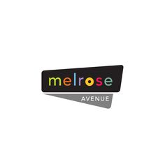 Logo designed for Melrose Avenue to be used in promotional materials and advertising