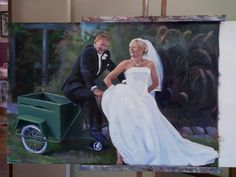 Matt and Debbie Commission work Oil painting