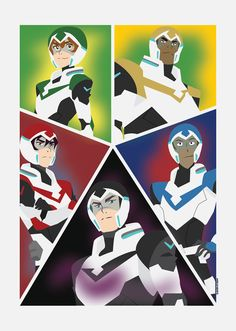 Voltron The Legendary Defender's (11 x 17) for sale on etsy